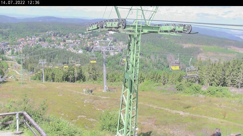 Webcam Skigebiet Hahnenklee - Bocksberg Seilbahn - Harz